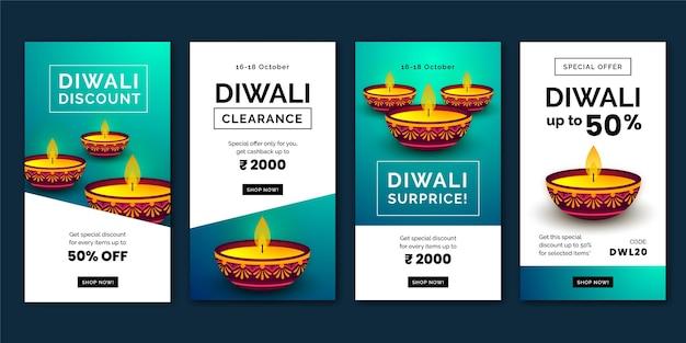 Diwali verkoop instagram verhalencollectie