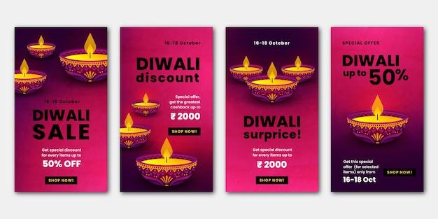 Diwali verkoop instagramverhalen
