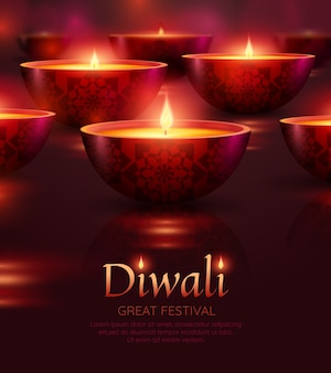 Diwali viering sjabloon