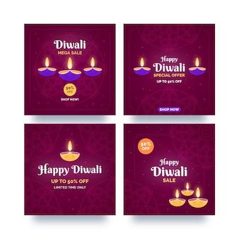 Diwali-viering verkoop instagram-berichten