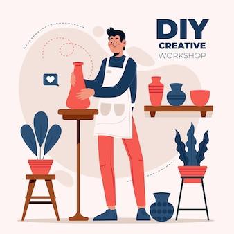 Diy creatieve workshop