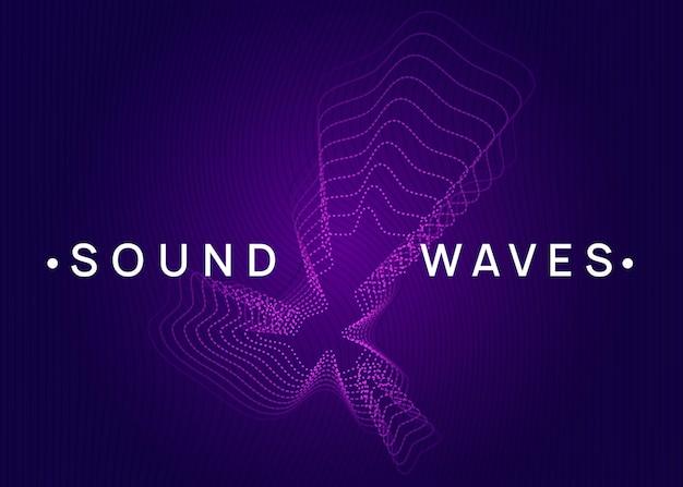Dj-feestje. futuristisch concertbannerontwerp. dynamische vloeiende vorm en lijn. neon dj-feestvlieger. electro-dansmuziek. techno-trance. elektronisch geluidsevenement. clubfeest poster.