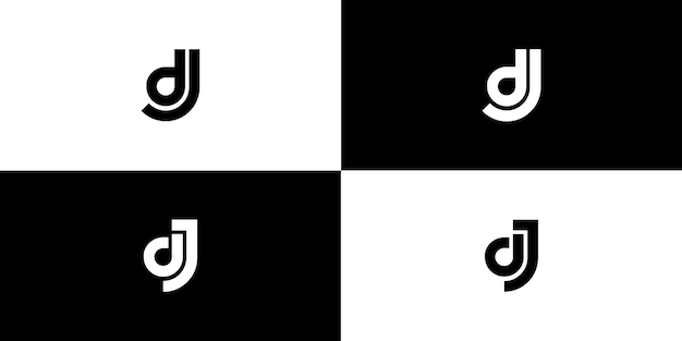 Dj jd logo eerste letter ontwerp