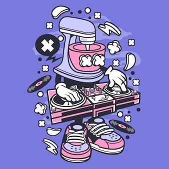 Dj mixer cartoon