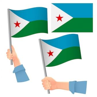 Djibouti vlag in de hand set