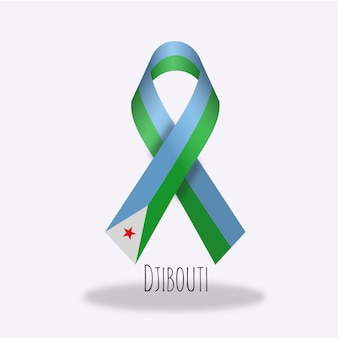 Djibouti vlag lint ontwerp