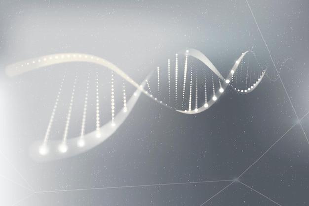 Dna genetische biotechnologie wetenschap grijze neon vectorafbeelding