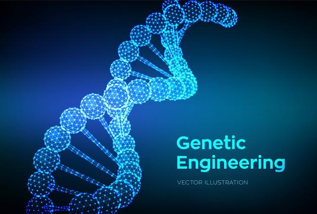 Dna-sequentie. wireframe dna-moleculen structureren gaas.