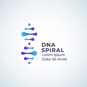 Dna spiraal abstract teken, symbool of logo sjabloon.
