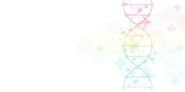 Dna-streng achtergrond en genetische manipulatie of laboratoriumonderzoek