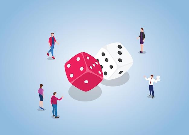Dobbelspel met mensen