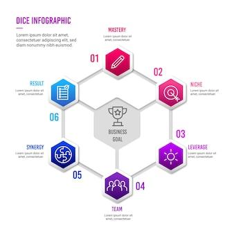 Dobbelstenen infographic concept