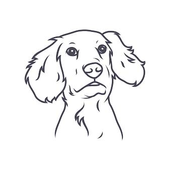 Doberman dog - vectorembleem / pictogramillustratiemascotte