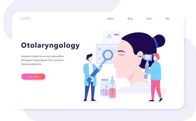 Doctore maakt ooronderzoek concept. idee van medische behandeling en gezondheidszorg. otolaryngologie hulpmiddel. illustratie