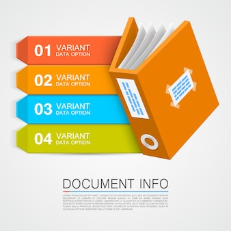 Document info art tape kleur. vectorillustratie