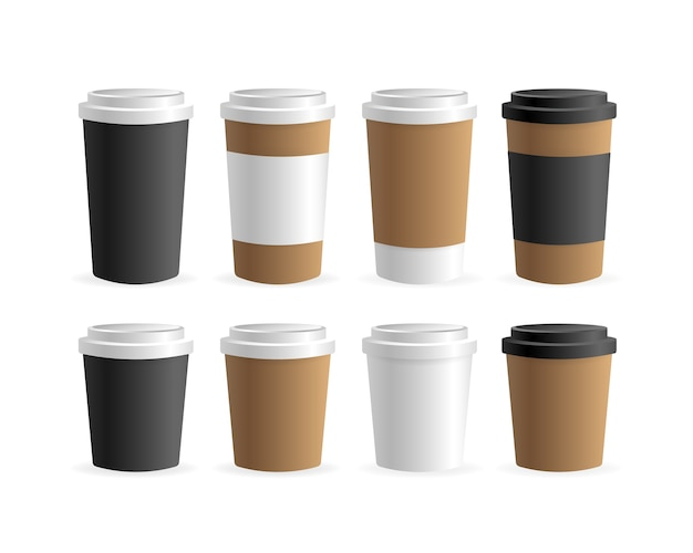 Document koffiekop binnen op witte achtergrond. blank . , sjabloon. koffie drinken.