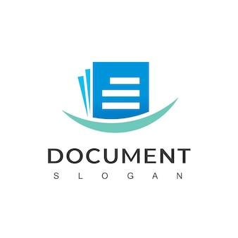 Document logo ontwerp vector