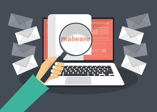 Document met malware in laptop