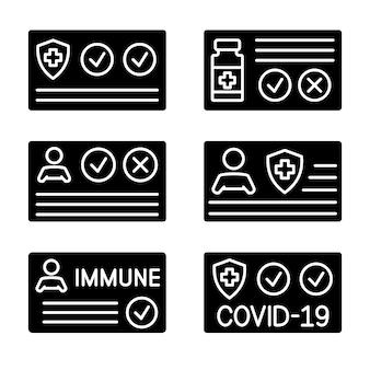 Document om aan te tonen dat een persoon is ingeënt met het covid19-vaccin vector