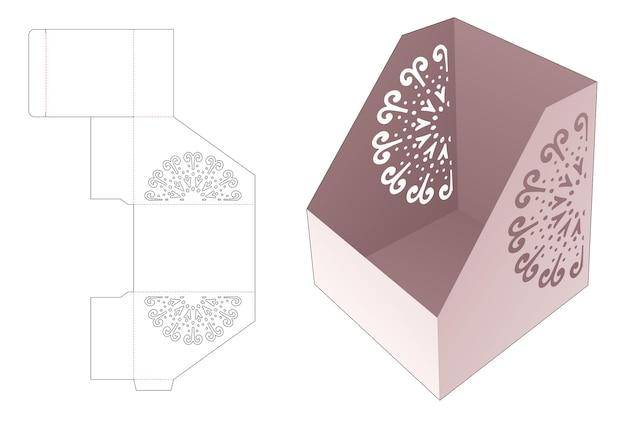 Document tray box met gestencilde mandala gestanste sjabloon