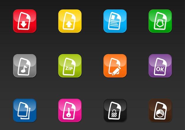 Document vectorpictogrammen voor gebruikersinterfaceontwerp