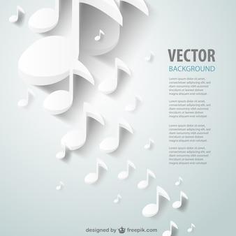 Document verwijderde muziek vector achtergrond
