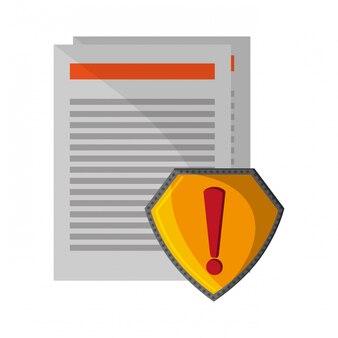 Documenten aandacht badge teken