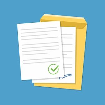 Documenten bevestigd of goedgekeurd document.