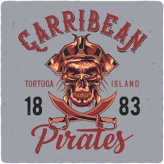 Dode piraat in hoed.