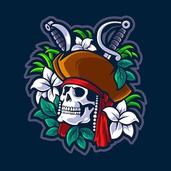 Dode piraten illustratie