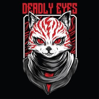 Dodelijke ogen illustratie