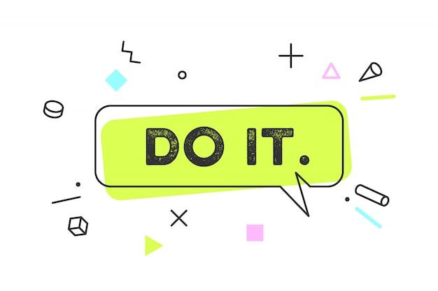Doe het. banner, tekstballon