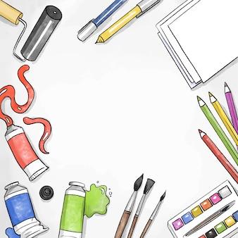 Doe het zelf creatieve workshop en kopieer ruimte