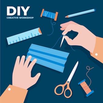 Doe het zelf naaigarnituur