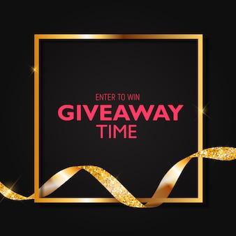 Doe mee om te winnen. giveaway tijd. illustratie