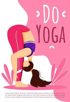 Doe yoga-sjabloon. actieve en gezonde levensstijl. sportoefeningen.
