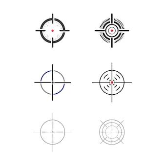 Doel vector pictogram illustratie ontwerpsjabloon