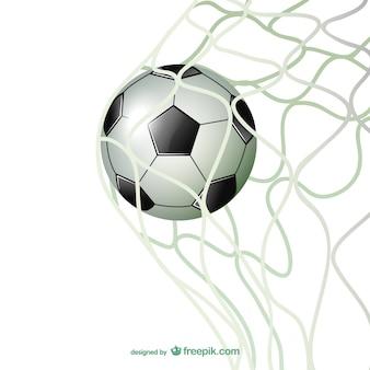 Doel voetbalpoort voetbal vector