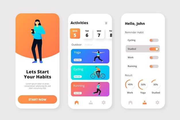 Doelen en gewoonten volgen app