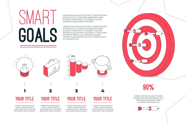 Doelen infographic concept