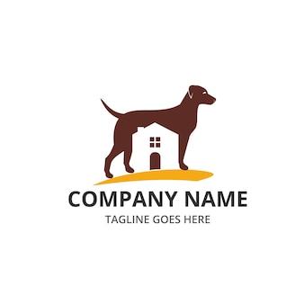Dog house logo en pictogram element