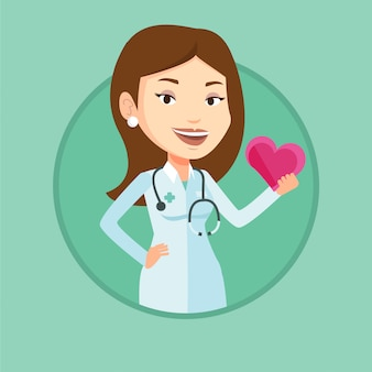 Dokter cardioloog met hart.