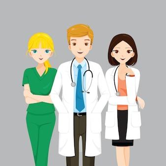 Dokter en verpleegster team