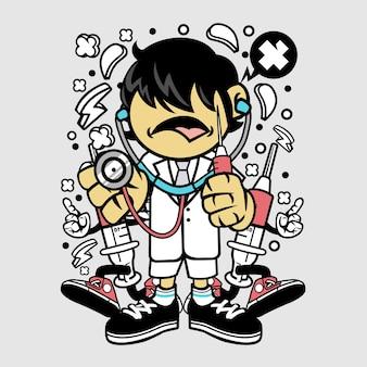 Dokter kid cartoon