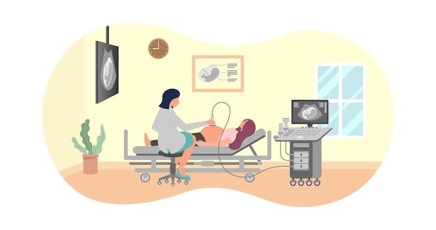 Dokter met echografie concept