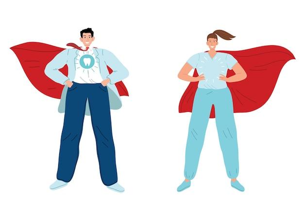 Dokter superheld. medic superheld. bestrijd de pandemie van het coronavirus covid19.