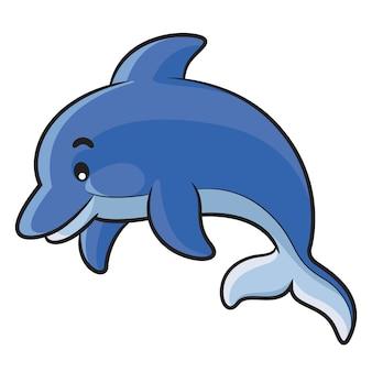 Dolfijn cartoon