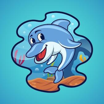 Dolfijn onder de zee