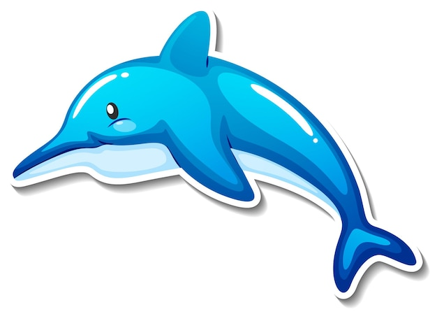 Dolfijn zee dier cartoon sticker