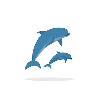 Dolfijnen springen